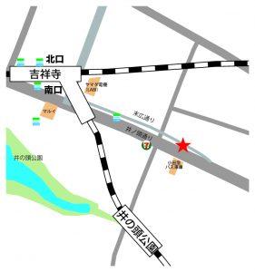 吉祥寺 レンタルスタジオは 吉祥寺駅 から6分。