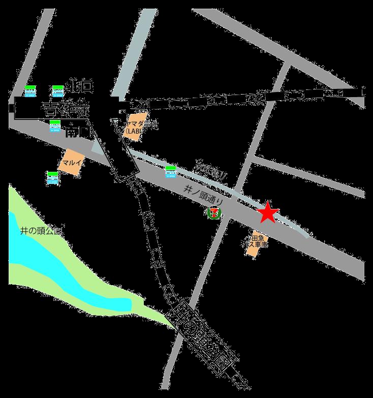 吉祥寺レンタルスタジオ 吉すた 地図 PNG形式(サイト用透明)