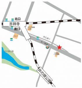 吉祥寺 ダンススタジオ 「 吉すた 」の 地図 の素材 吉すた 地図 JPG形式(サイト用)